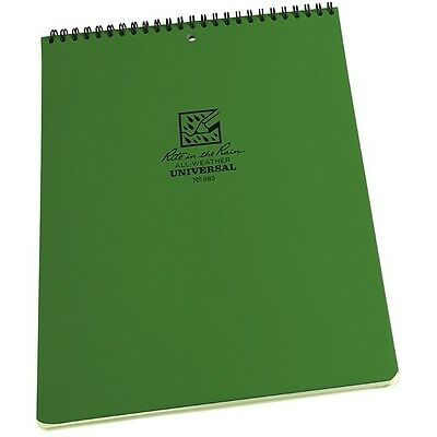 """Rite in the Rain 985 All-Weather Universal Top Spiral Notebook, Green, 8.5"""" x 11"""