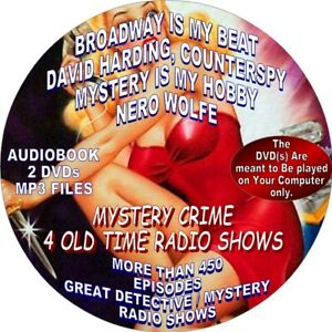 Details about MYSTERY CRIME - 4 OLD TIME RADIO SHOWS - 450+ EPISODES - MP3  FILES - ON 2 DVDs