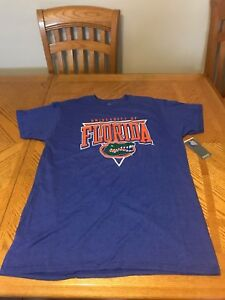 save off 7ebfe dffe6 Details about University of Florida Gators Shirt Football T-shirt Blue Tim  Tebow Jersey XL