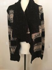 Ashley Women's Maternity Knit Cardigan Sweater Size XL Extra Large Black Ivory