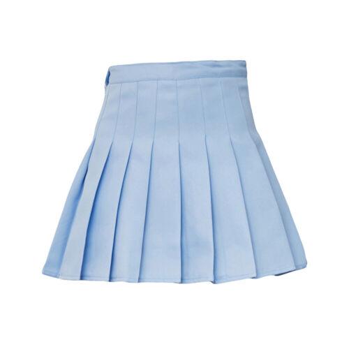 Fashion Femmes Mini Plissée Couleur Unie Taille haute Tennis Patineuse Jupe courte Hot