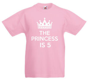 Image Is Loading The Princess 5 5th Birthday Gift T