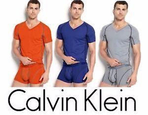 3611422626b9 Calvin Klein T-Shirt Men Athletic Performance Mesh V-Neck Ck T U1738 ...