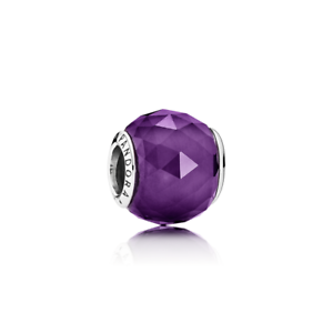 NEW-AUTHENTIC-PANDORA-Geometric-Facets-Royal-Purple-Crystal-9034