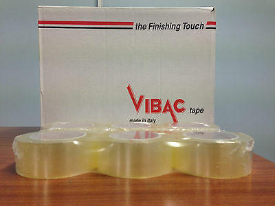 FREE 24H 6 ROLLS VIBAC 48 mm x 132 m /'DOUBLE LENGTH/' CLEAR PACKING TAPE