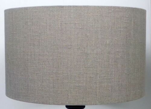 Cylinder Pendant Ceiling Light Irish Linen Oatmeal Drum Table Lampshade