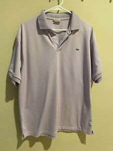 Mens LACOSTE T-Shirt Embroidered Gator Striped Collar 3 Color Choices