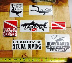 RESCUE DIVER Scuba Diver Diving Vinyl Decal Sticker D