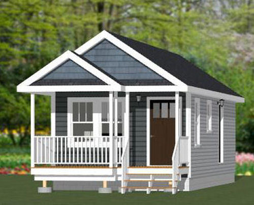 14x32 Tiny House -- 447 sq ft -- PDF FloorPlan -- Model 1O