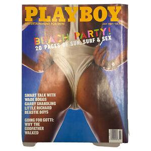 Playboy Magazine July 1987 Vintage Beastie Boys LIttle Richard Centerfold