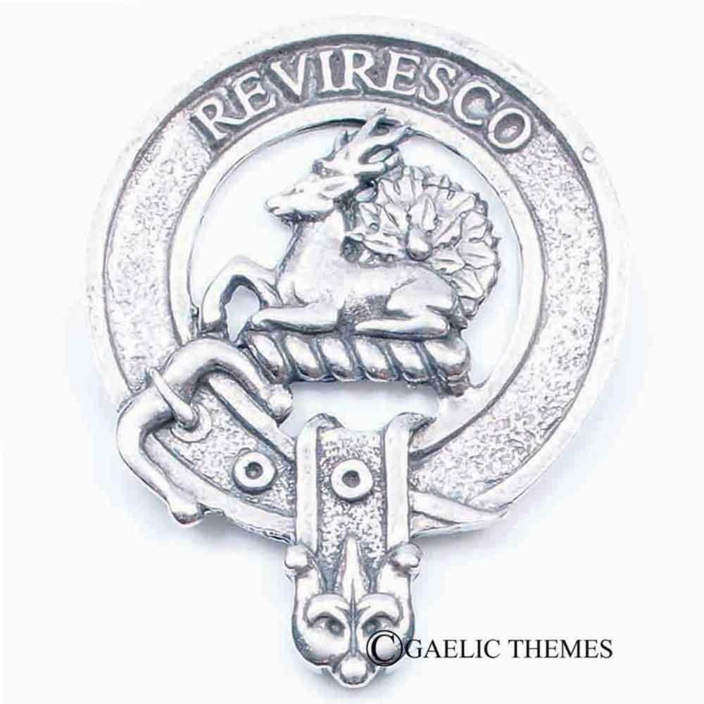 Clan Crest Cap Badge Maxwell - Made in Scotland