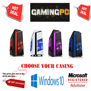 Windows-10-Personnalise-CORE-i5-QUAD-CORE-GAMING-Tour-16-Go-8-Go-DDR3-ordinateur-PC