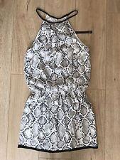 NWT! Vix Swimwear Beach Coverup Dress White And Black Snakeskin Print Size M