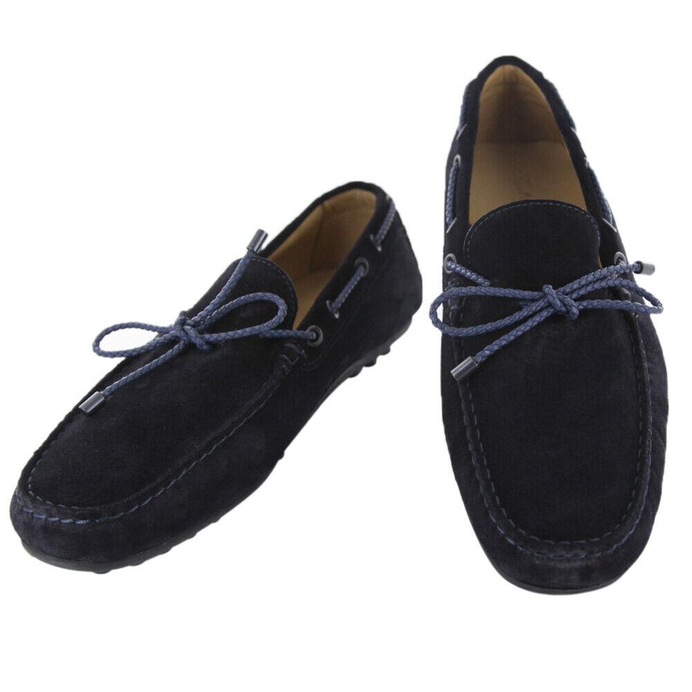 Fiori Di Lusso Dark Blue Suede Lace Driving Shoes - (50)