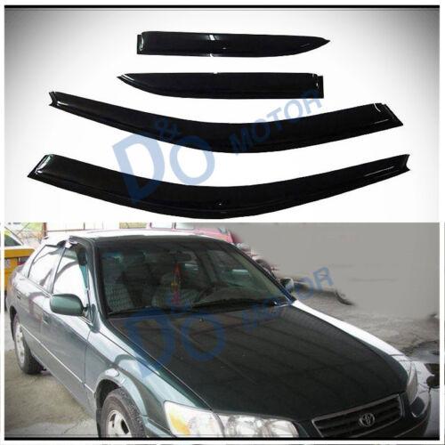 4pcs JDM Smoke Sun//Rain Guard Vent Shade Window Visors Fit 97-01 Toyota Camry