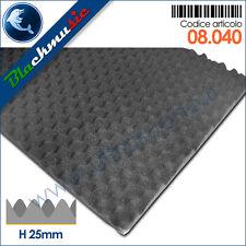 Spugna fonoassorbente bugnato piramidale tondo adesivo H 2,5cm - 50x100cm