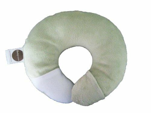 Babymoon Pod Pillow For Flat Head Syndrome /& Neck Support Baby Minky Green Open