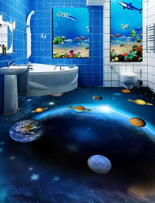 3D Cosmic Planets 4746 Floor WallPaper Murals Wallpaper Mural Print AJ AU Lemon