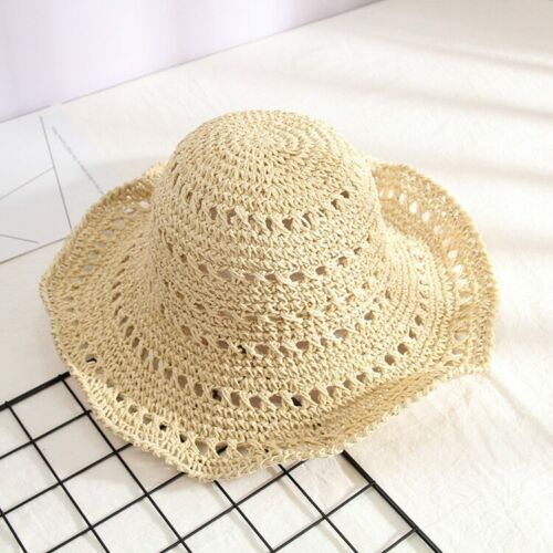 All-match Foldable Straw Hat Female Summer Outing Sunscreen Sun Hat Holiday Hat