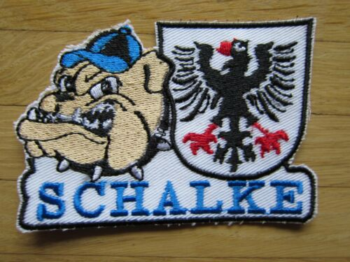 ..! Schalke Aufnäher Patch Kult Wappen /& Ultras Bulldog