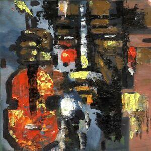 Russischer-Realist-Expressionist-Ol-Leinwand-034-Gitarrist-034-30x29-cm