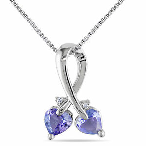 Amour-Sterling-Silver-Tanzanite-and-Diamond-Accent-Heart-Necklace