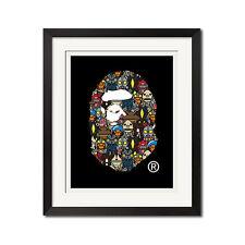 A Bathing Ape Baby Milo x Ultraman BAPE Logo Poster Print 0688