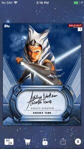 Topps Star Wars Digital Card Trader Platinum Chewbacca Insert