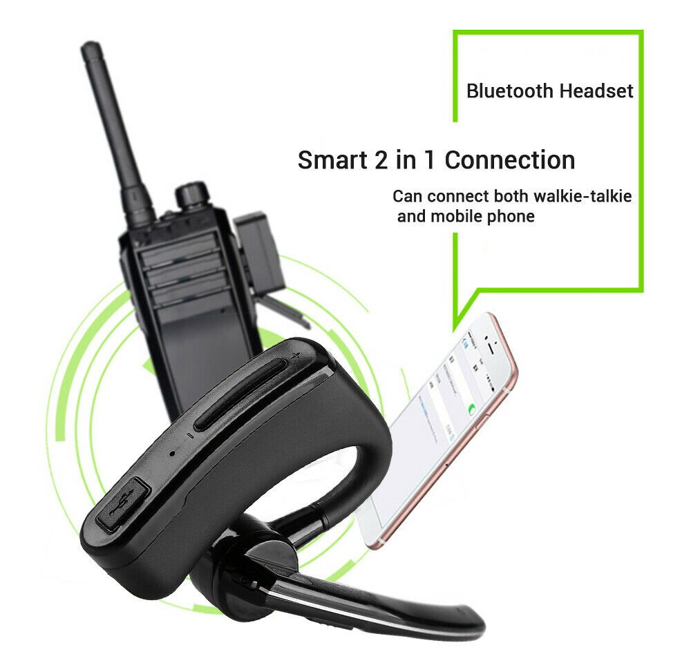 Wireless Walkie Talkie Bluetooth Headset Ptt Remote For Hyt Tc2110 Ios Android For Sale Online Ebay