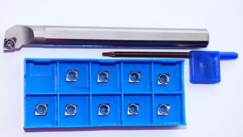 10x CCGT 060204 CCGT 06 AL K10  für ALU+1 Bohrstange S10J SCLCR 06 für CCMT 06