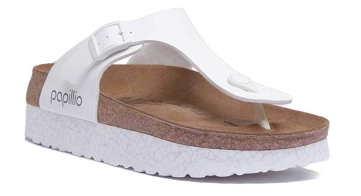 Papillio Gizeh Birko-Flor Women Synthetic Leather Th Monochrome Marble White Toe Th Leather 64f516