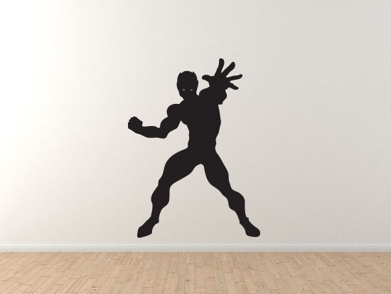 Comic Book Style - Super Hero Silhouette Power Version 1 - Vinyl Wall Decal