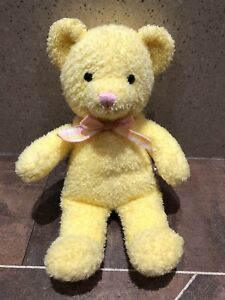 Yellow Pink Blue Cream Russ Berrie Baby Bear Rattles