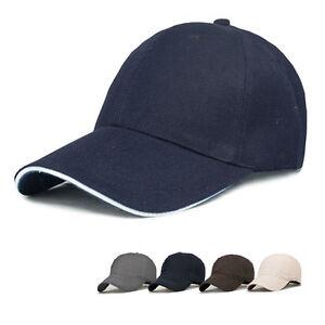 100% Cotton Baseball Hat Plain Cap Blank Curved Visor Hats Men Women ... df78b9f846bd