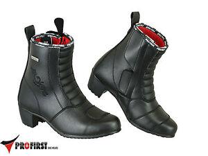 Profirst-Impermeabile-Donne-Da-Donna-Da-Moto-Scarpe-Stivali-con-Tacco-35-42