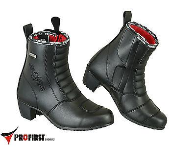 ProFirst Wasserdichte Frauen Damen Motorrad Schuhe Stiefel Absatz | eBay