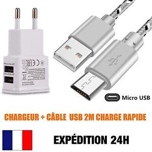 Câble Micro USB Cable Chargeur Rapide Câble de Charge en