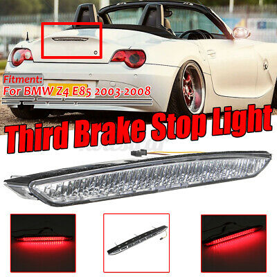 Clidr Clear Red Light 20-LED High Position Mounted Rear 3rd Third Brake Stop Braking Light Replacement For BMW E85 Z4 2003 2004 2005 2006 2007 2008 Clear Lens