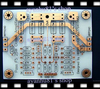 PASS F5 25W Class A Amplifier Audio Power Amp Board PCB