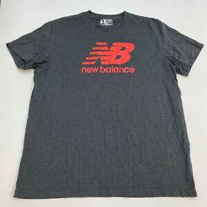 Details about New Balance Dry T-Shirt Mens 3XL XXXL Gray Short Sleeve Crew Neck Graphic Print