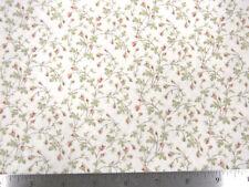 Moda 3 Sisters Paris Flea Market Climbing Rose Buds China White Fabric