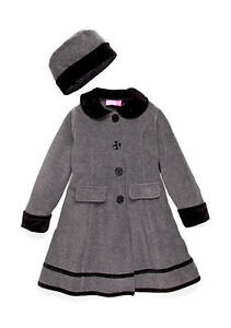 Good Lad Fleece Coat w//Black Velvet Trim and Matching hat