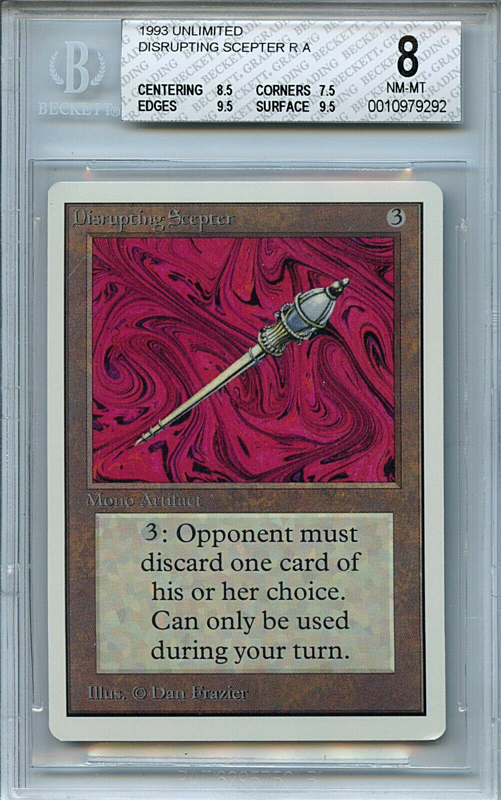 MTG Unlimited Disrupting Scepter BGS BGS BGS 8.0 (8) NM-MT Card Magic Amricons 9292 ca3bfe