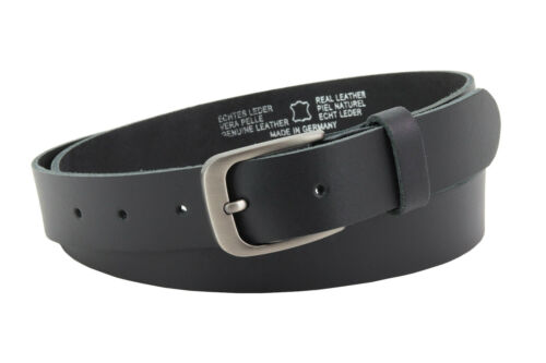 Damen Gürtel Frauen Hüftgürtel aus hochwertigem Rindleder Cirmini New Black Belt