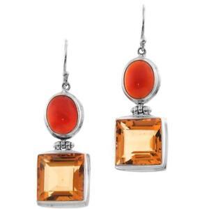 1-3-16-034-CARNELIAN-CITRINE-925-STERLING-SILVER-earrings