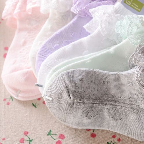 Süßes Baby Spitze Socke Mädchen Winzig Neugeborenes Spanische Gestrickt