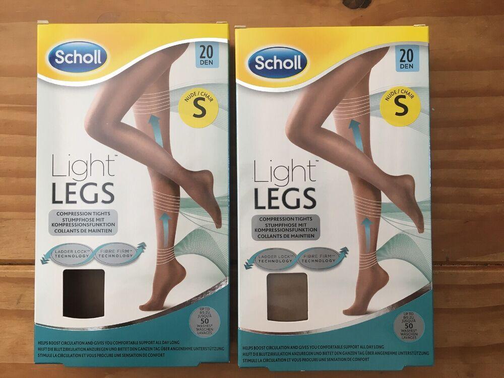 2 X Scholl Nude Compression Collants Taille S Jambes Légères 20 Deniers Rrp £ 15 Chaque