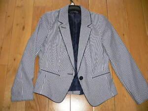 Atmosphere-Blue-White-Stripe-Jacket-Size-8