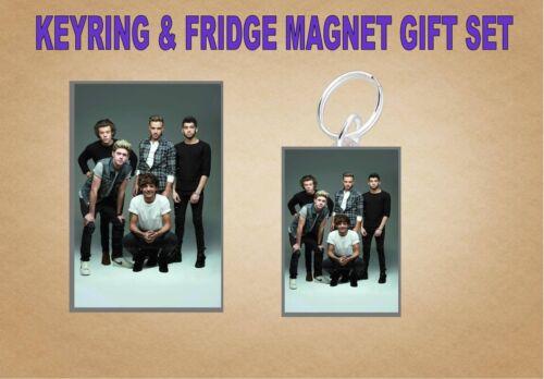 one direction Key Ring /& Fridge Magnet Set