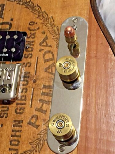 2 SOLID SHAFT Walla Walla Guitar Company 12 Gauge Shotgun Shell Guitar KNOBS